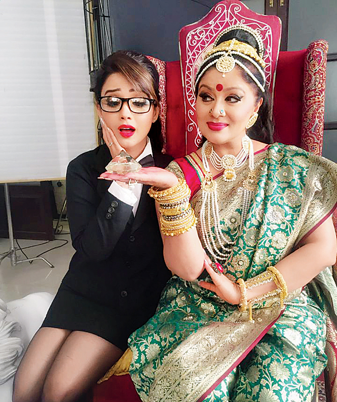Sudha Chandran and Adaa Khan