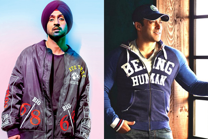 Diljit Dosanjh and Salman Khan