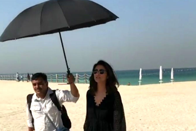 A still from the video that Parineeti Chopra deleted