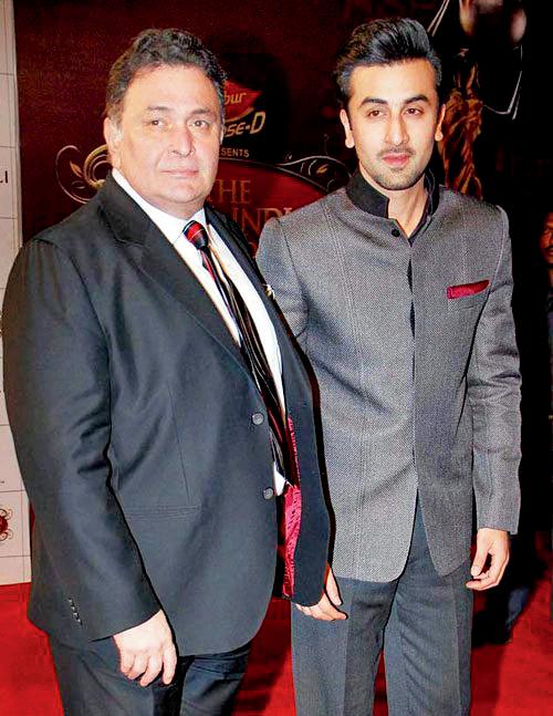 Rishi Kapoor and Ranbir Kapoor