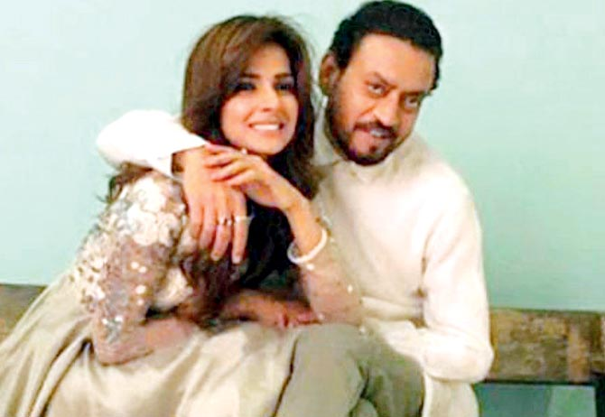 Irrfan Khan and Saba Qamar