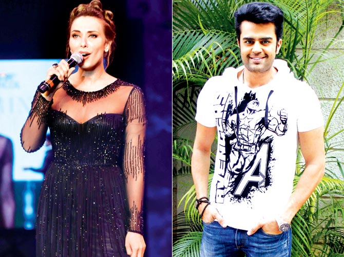 Romanian actress-anchor Iulia Vantur and Manish Paul