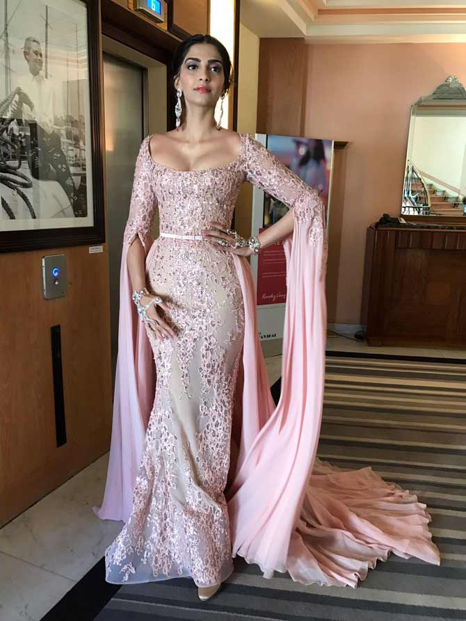 Here's Sonam Kapoor's first red carpet look for Cannes 2017