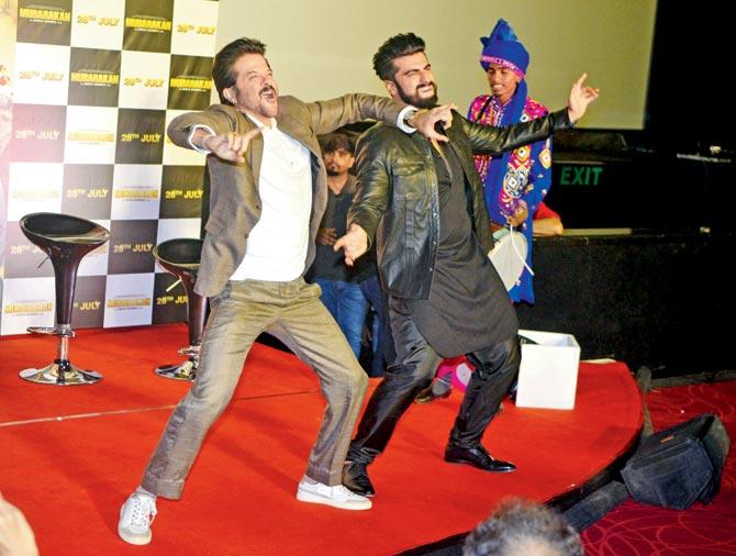 Anil Kapoor with Arjun Kapoor