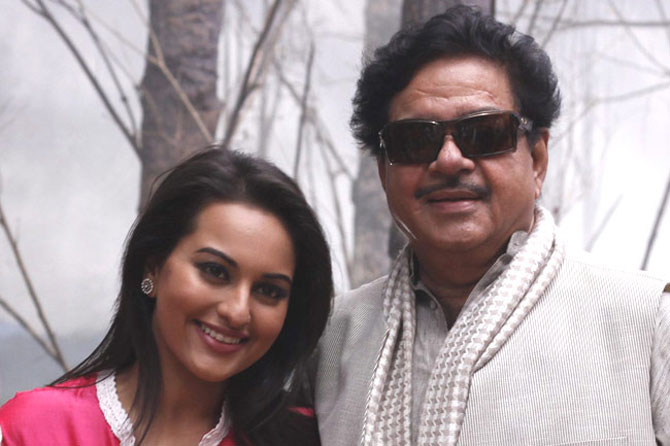 Sonakshi with father Shatrughan Sinha