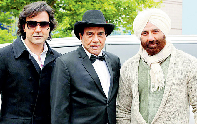 Bobby, Dharmendra and Sunny Deol