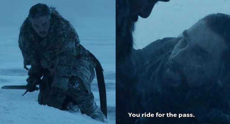 This Is How Benjen Stark Magically Appeared To Rescue Jon Snow From The White Walkers