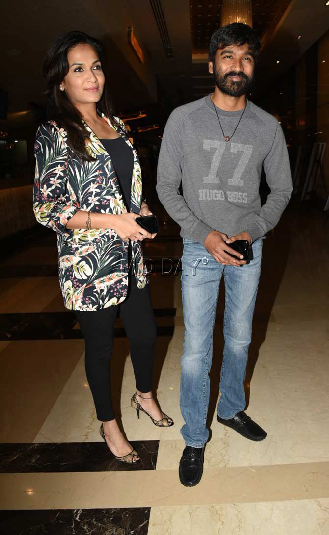 Soundarya Rajinikanth with husband Dhanush