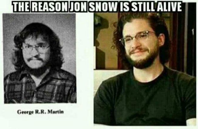 Young George RR Martin Looked Like Jon Snow & It's Pure Sorcery