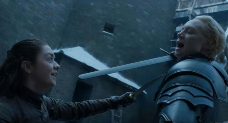 HBO Has Released A Behind-The-Scenes Video Of Arya & Brienne's Fight And We See Stunt Doubles
