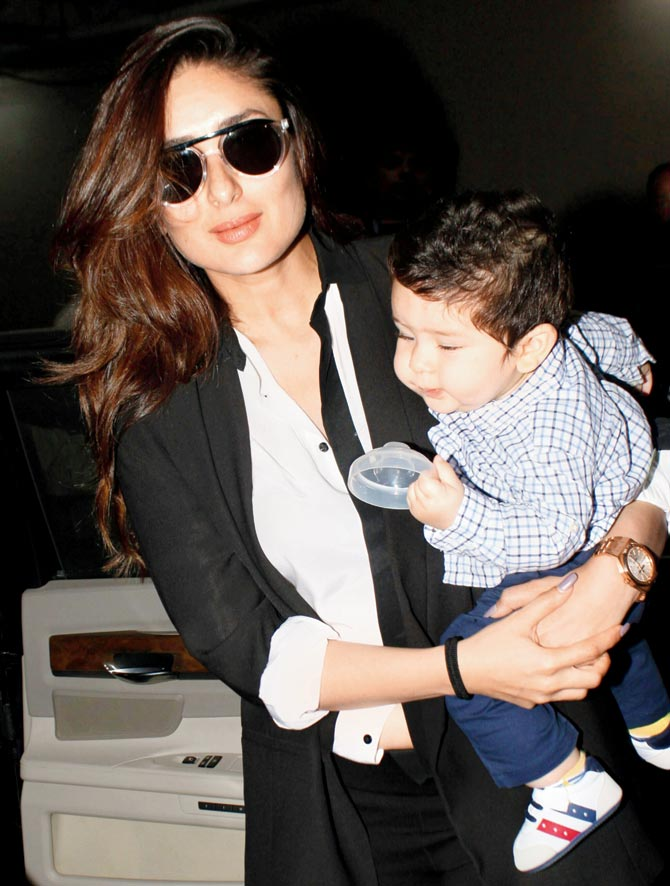 Kareena Kapoor Khan with son Taimur