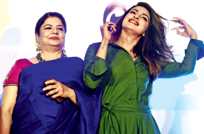 Madhu Chopra with daughter Priyanka