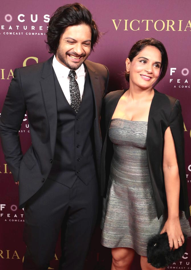 Ali Fazal and Richa Chadha