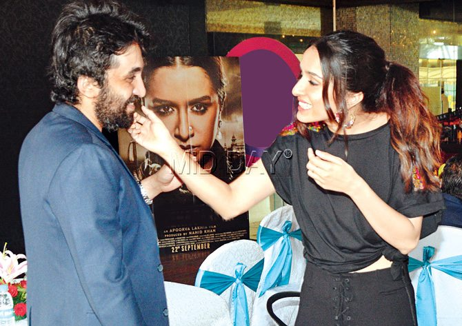 Shraddha Kapoor with brother Siddhanth. Pic/Sameer Markande, Satej Shinde