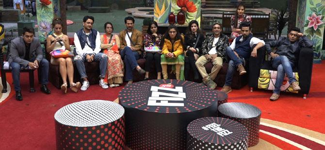 Bigg Boss 11 contestants during the Weekend Ka Vaar episode