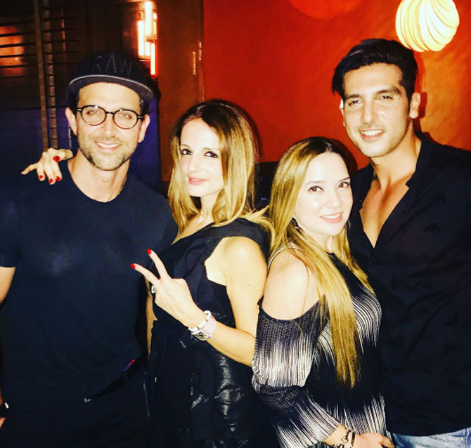 Hrithik Roshan, Sussanne Khan, Malaika Parekh and Zayed Khan