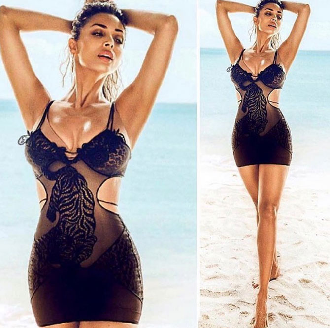 Malaika Arora reveals a tad too much in this see-through outfit