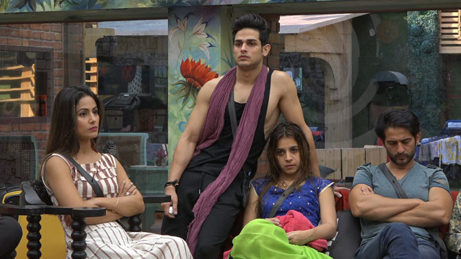 Contestants in the Bigg Boss house