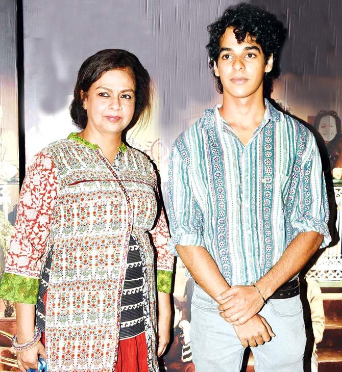 Neelima Azeem and Ishaan Khattar